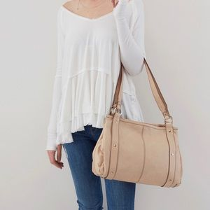 NWT Hobo Pinion Bag Parchment Color *FIRM*